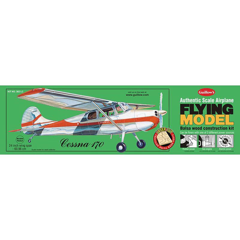 Cessna 170 Laser Cut Kit, 24""