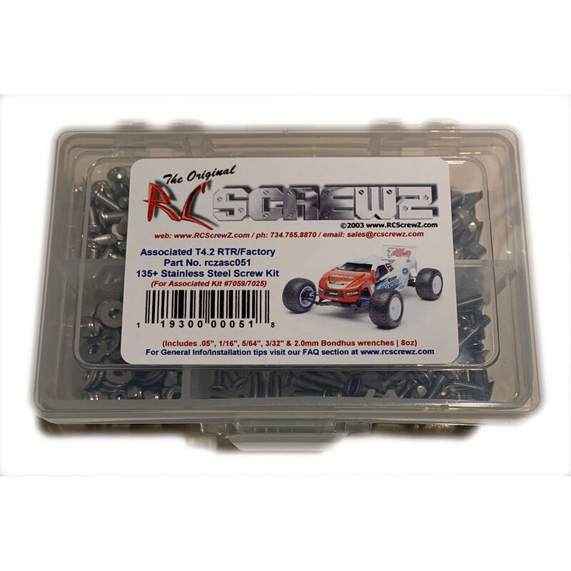 Stainless Steel Screw Set: Team Associated T4.2 RTR Factory