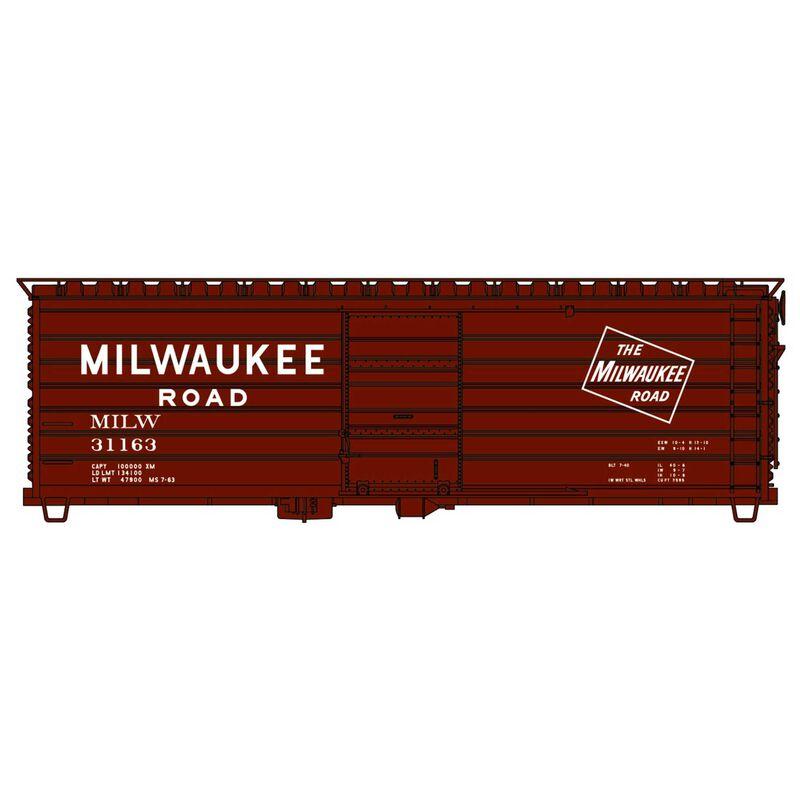 HO 40' Rib Side Steel Boxcar MILW #31163