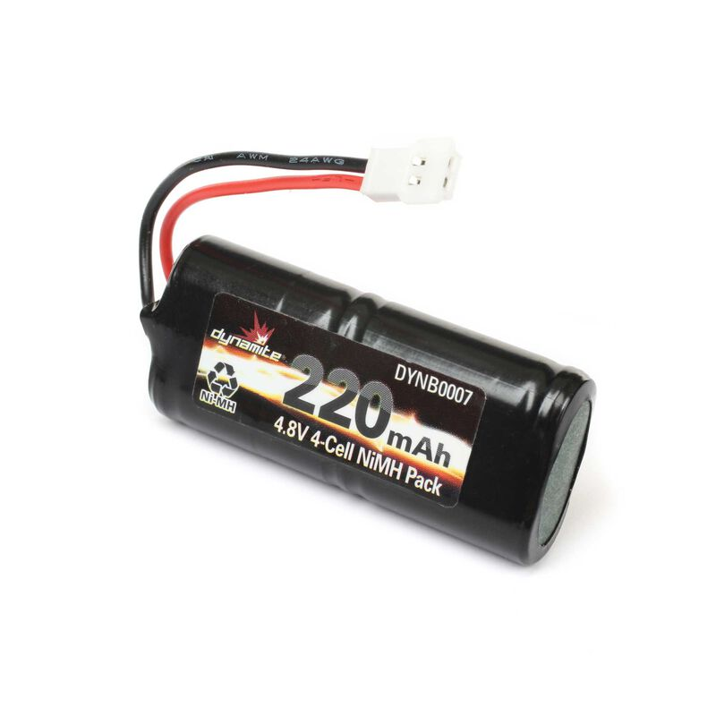 4.8V 220mAh Micro SCT, Rally, Truggy NiMH Battery: Molex