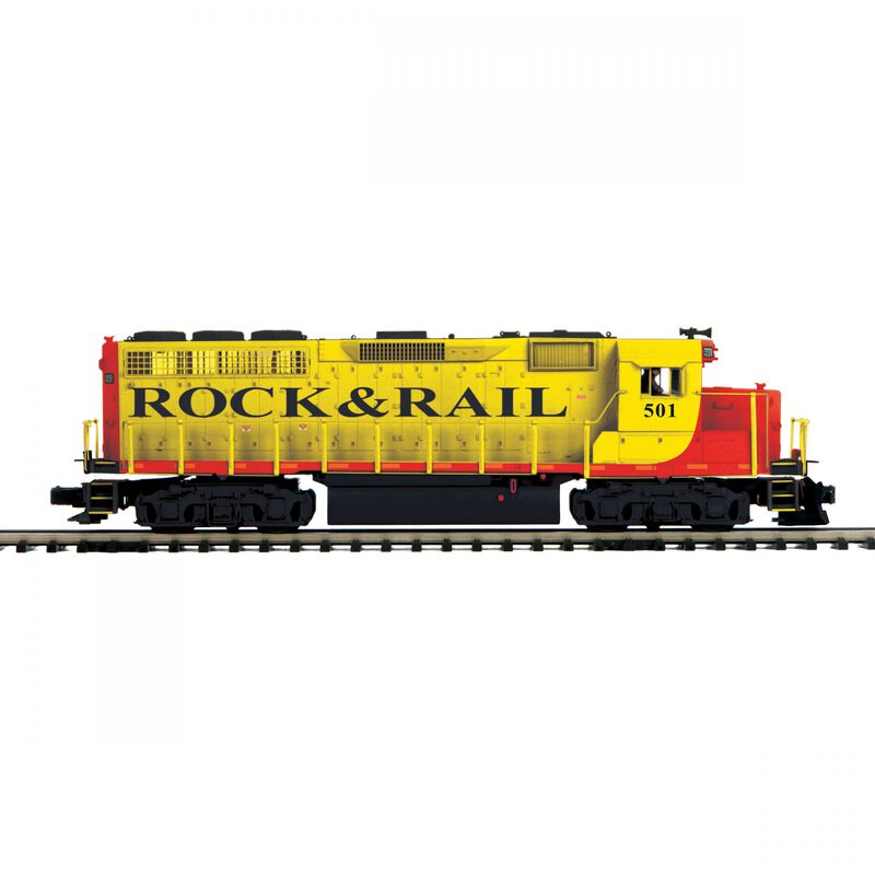O-27 GP40 with PS3 Hi-Rail Rock & Rail #501