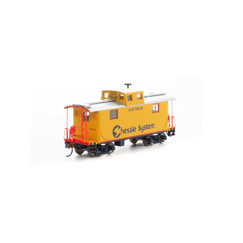 HO RTR Eastern 2-Window Caboose Chessie C&O #90241