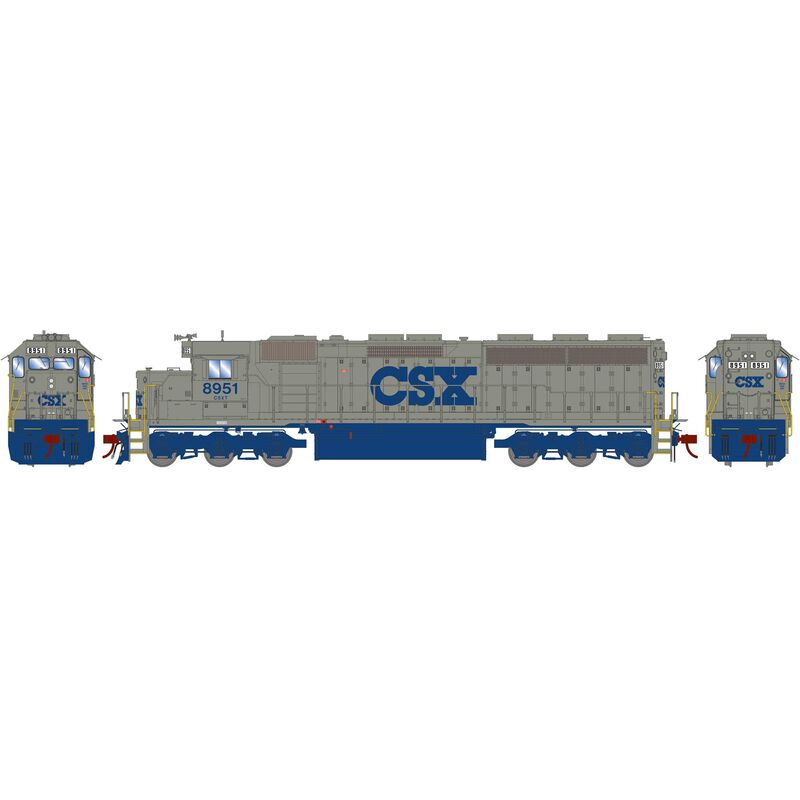 HO SD45-2 with DCC & Sound CSX Solid Grey #8951