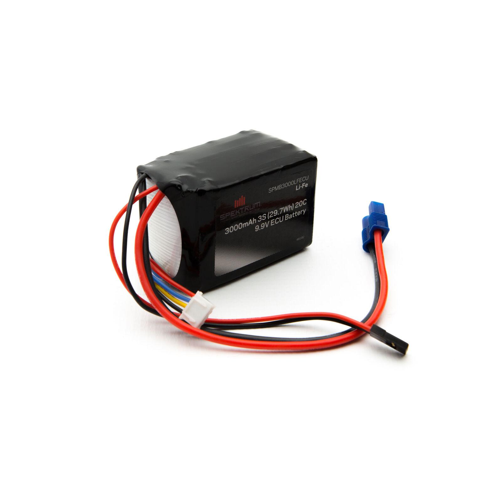 9.9V 3000mAh 3S LiFe ECU Battery: Universal Receiver, EC3