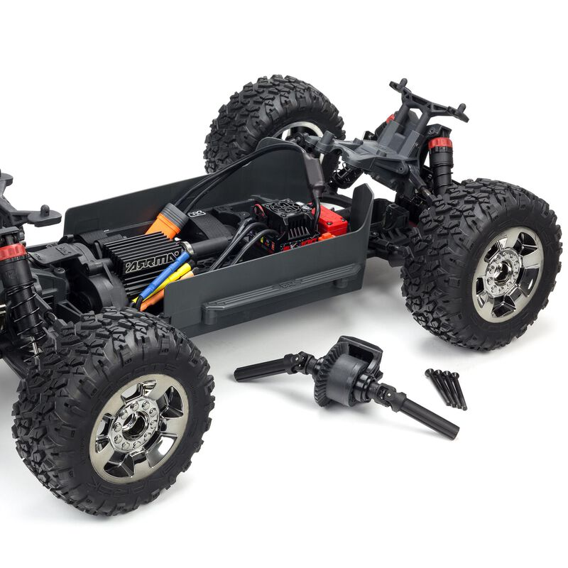 1/10 BIG ROCK CREW CAB 3S BLX 4WD Brushless Monster Truck with Spektrum RTR, Blue