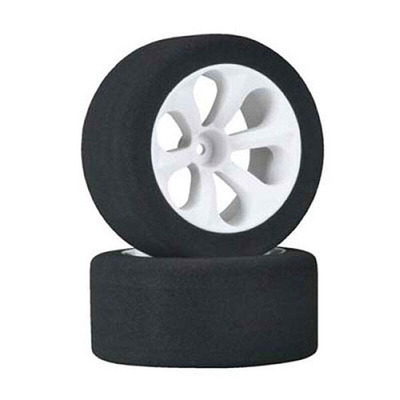 Rear Prism Racing Tire/Wheel, Pink (2): RU, ST VXL
