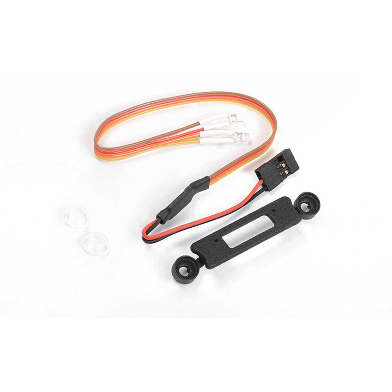 Headlight Insert with LED Light: Axial SCX24 Wrangler