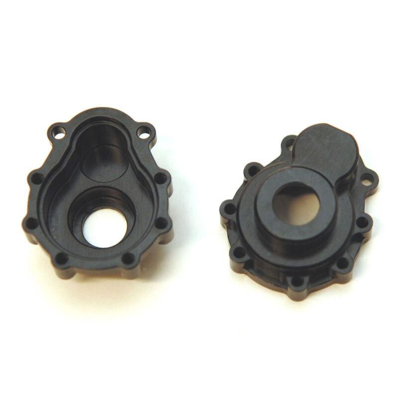 Aluminum Portal Drive Outer House (1pr) Front/Rear, Black: TRX-4
