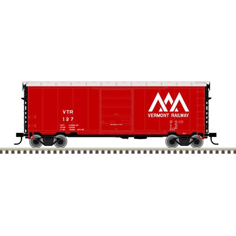 N 40' PS-1 Box Car Vermont Railway 133, Red/White