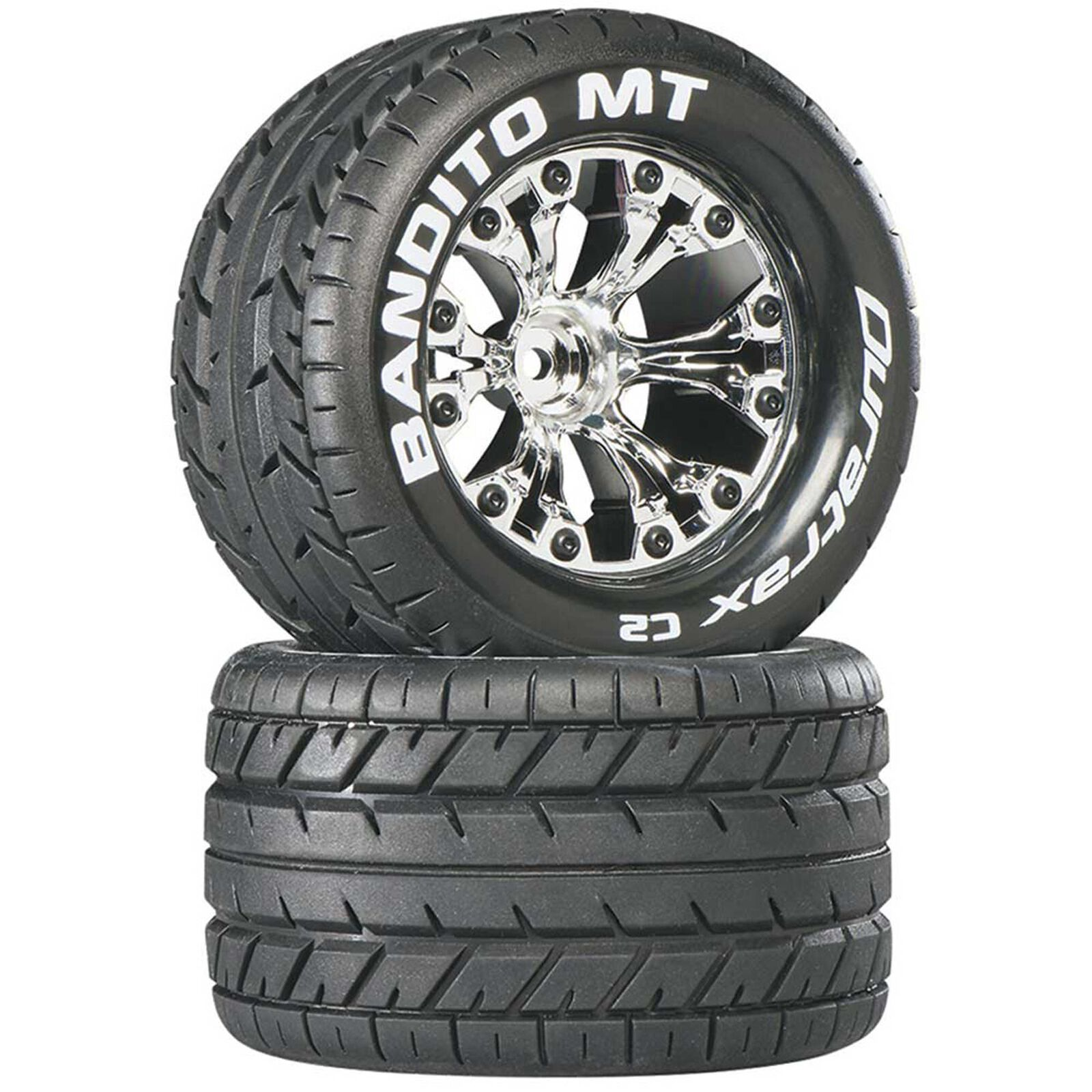 "Bandito MT 2.8"" Mounted 1/2"" Offset Tires, Chrome (2)"