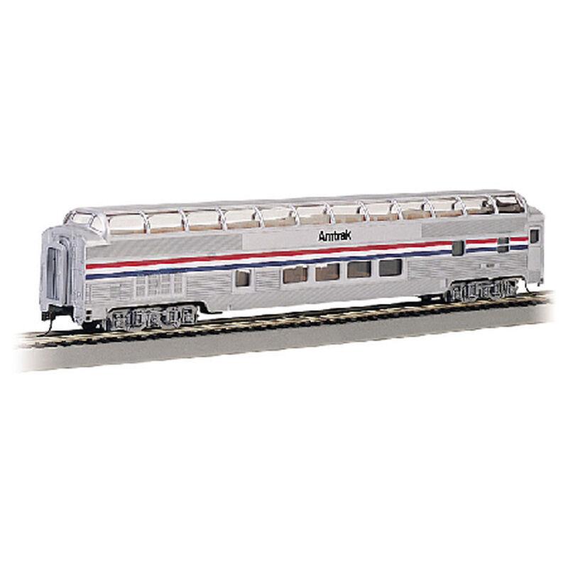 HO 85' Budd Full Dome/Lighted, Amtrak/Phase II