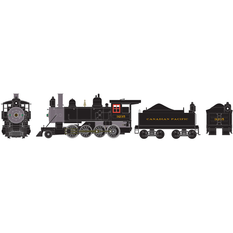 HO RTR Old Time 2-8-0 with DCC & Sound CPR #3235