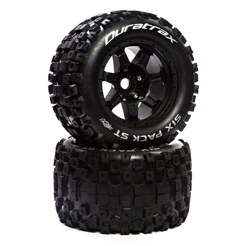 "Six Pack ST Belt 3.8"" Mounted Front/Rear Tires .5 Offset 17mm, Black (2)"