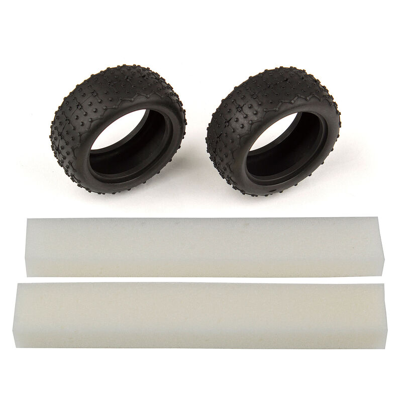 1/14 Wide Mini Pin Tires with Inserts: 14B, 14T