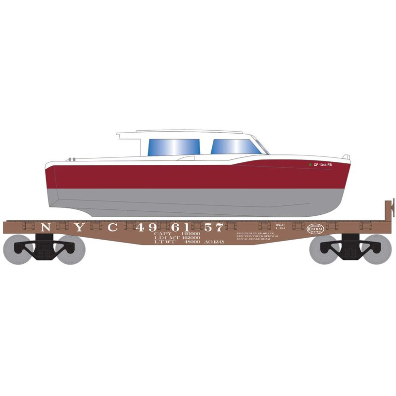 HO 40' Flat w Red Boat NYC #496157