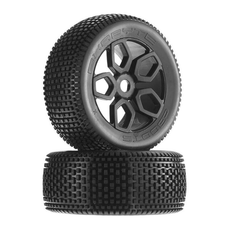1/8 Exabyte NT Truggy Front/Rear 3.8 Pre-Mounted Tires, 17mm Hex (2)