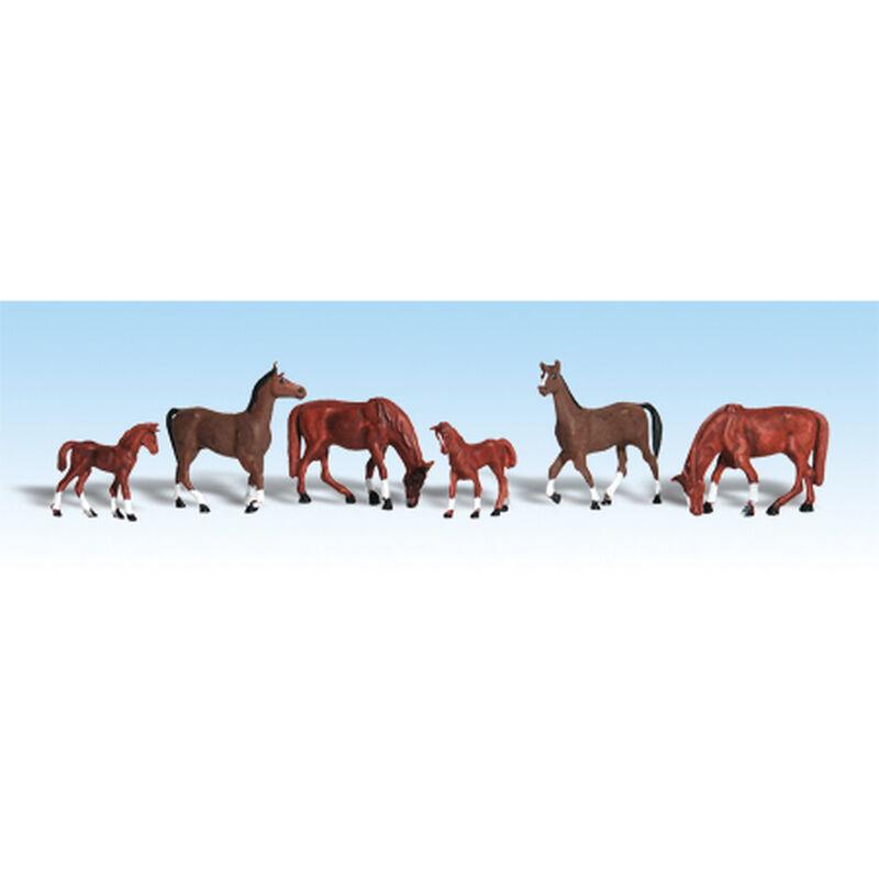 HO Chestnut Horses