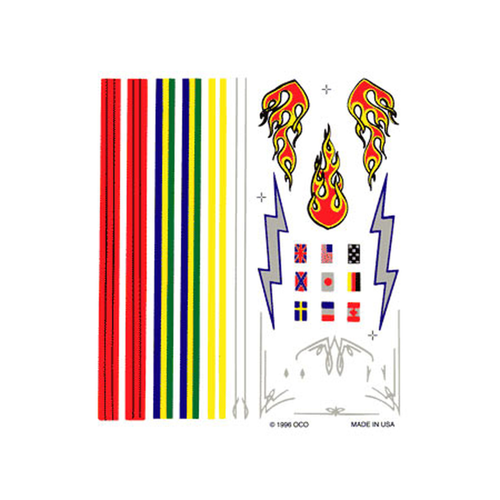 Dry Transfer Decals, Stripes & Flames