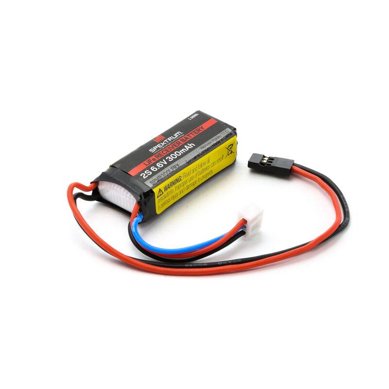6.6V 300mAh 2S LiFe Receiver Battery: Universal Receiver, EC3