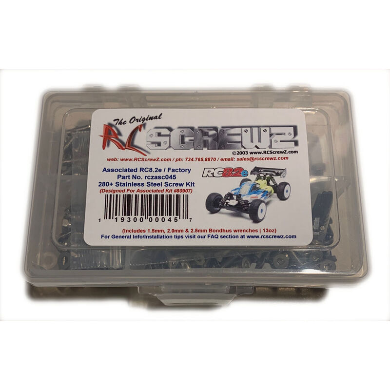 Stainless Steel Screw Set: Team Associated RC8.2e