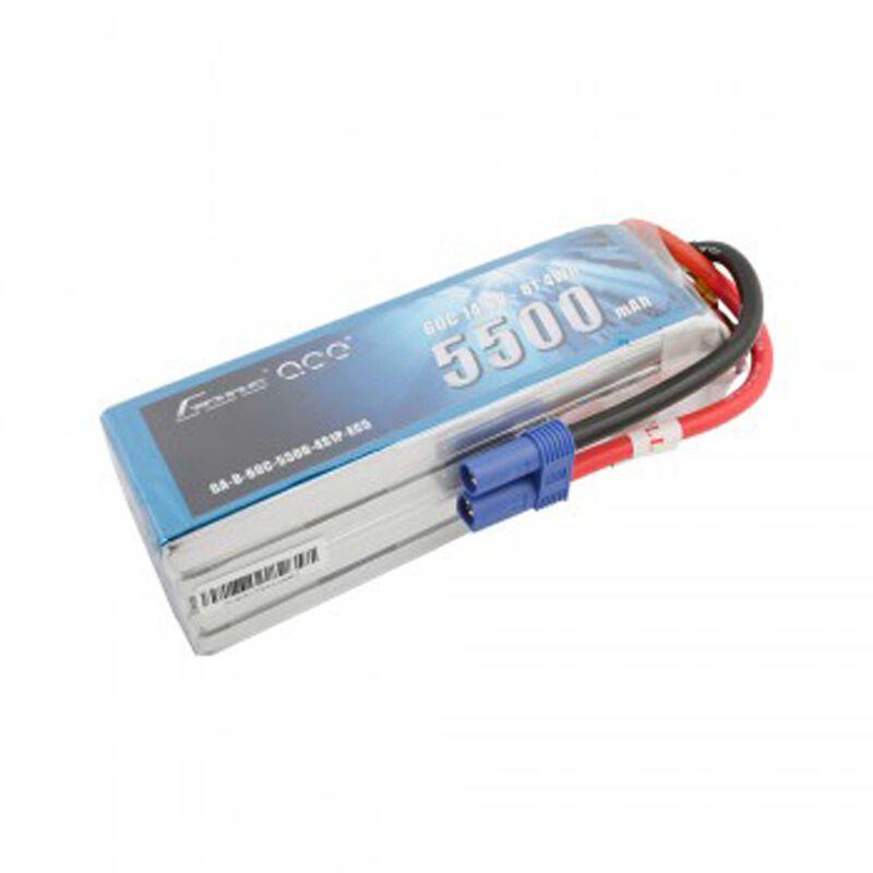 14.8V 5500 Capacity 4S Voltage 60C LiPo, EC5