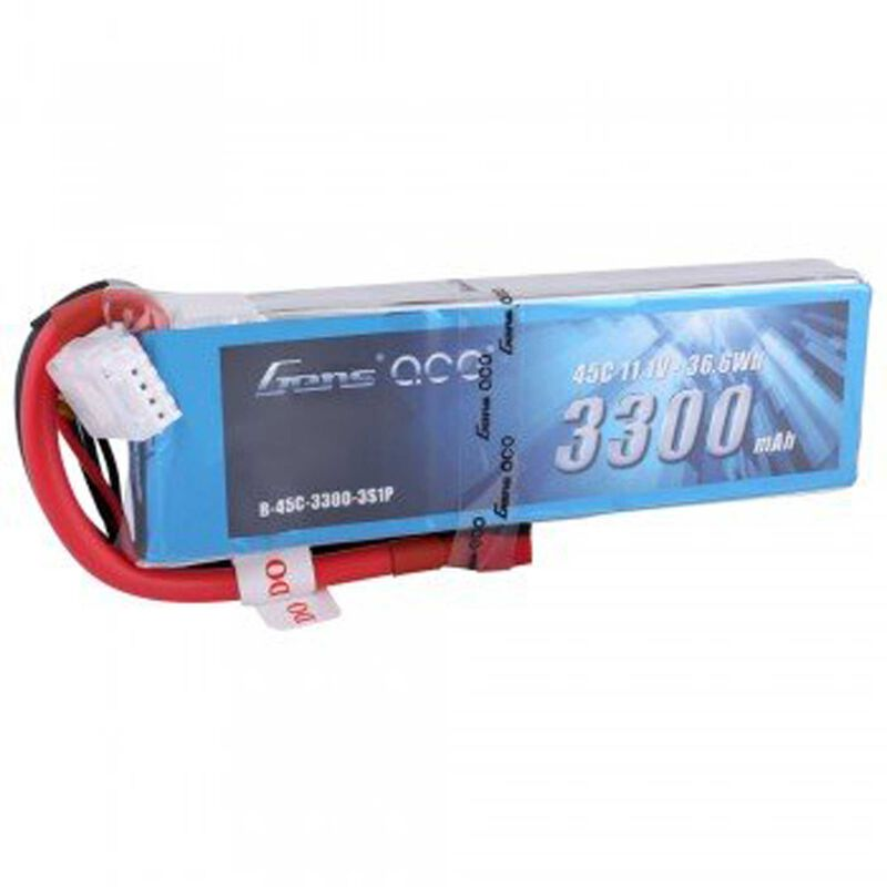 11.1V 3300 Capacity 3S Voltage 45C LiPo, Deans