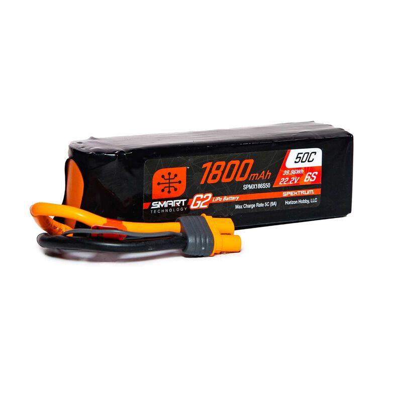 22.2V 1800mAh 6S 50C Smart G2 LiPo Battery: IC3