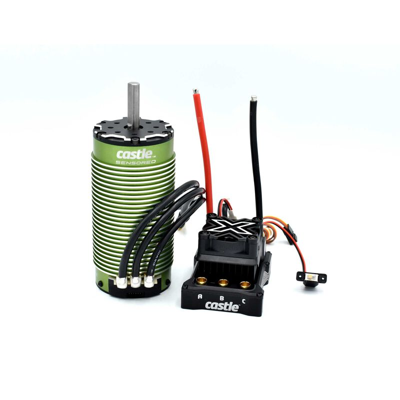 1/6 Mamba Monster X 8S Waterproof ESC/2028-800Kv Sensored Brushless Motor Combo: 6.5mm Bullet