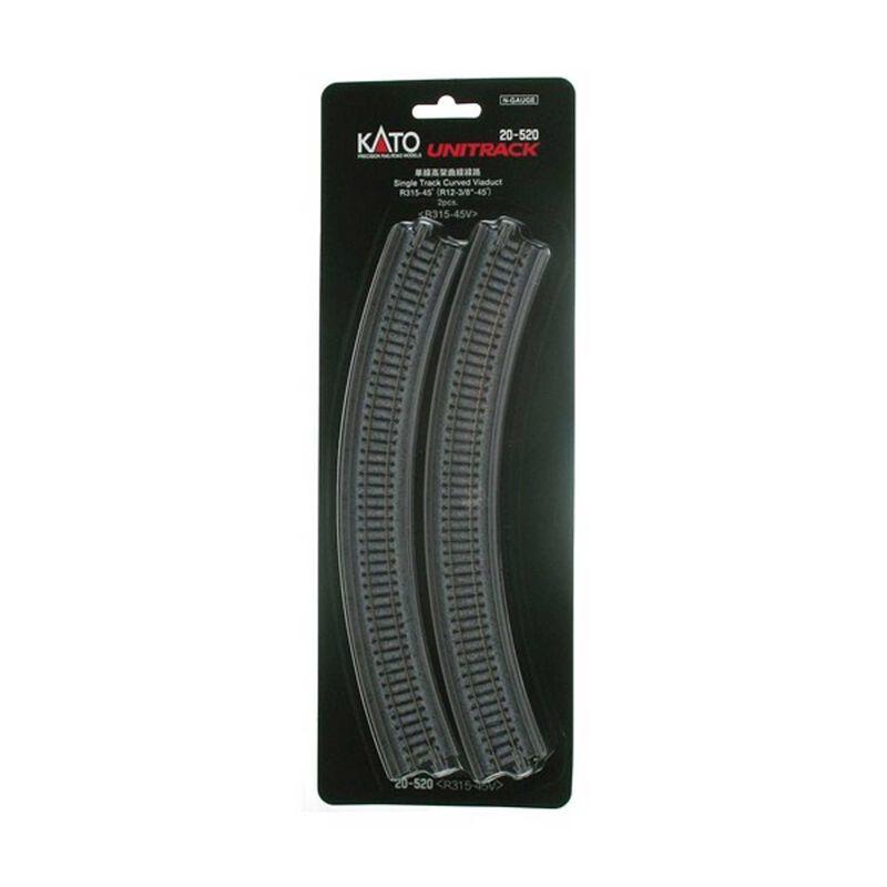 """N 315mm 12-3/8"""" Radius 45-Degree Viaduct (2)"""