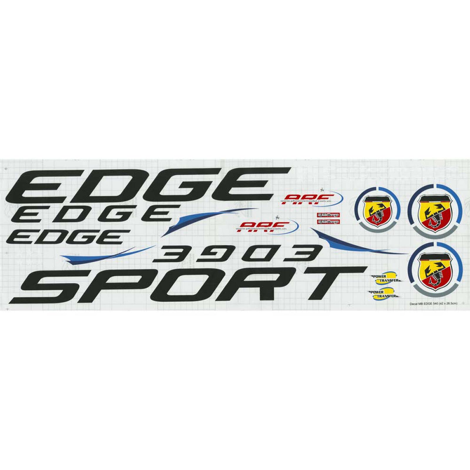 Decal Sheet Edge 540 .91 ARF