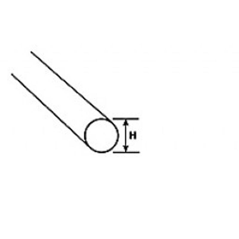 """AR-12, Clear Acrylic Round Rod: 3/8"""",9.5mm, (3)"""