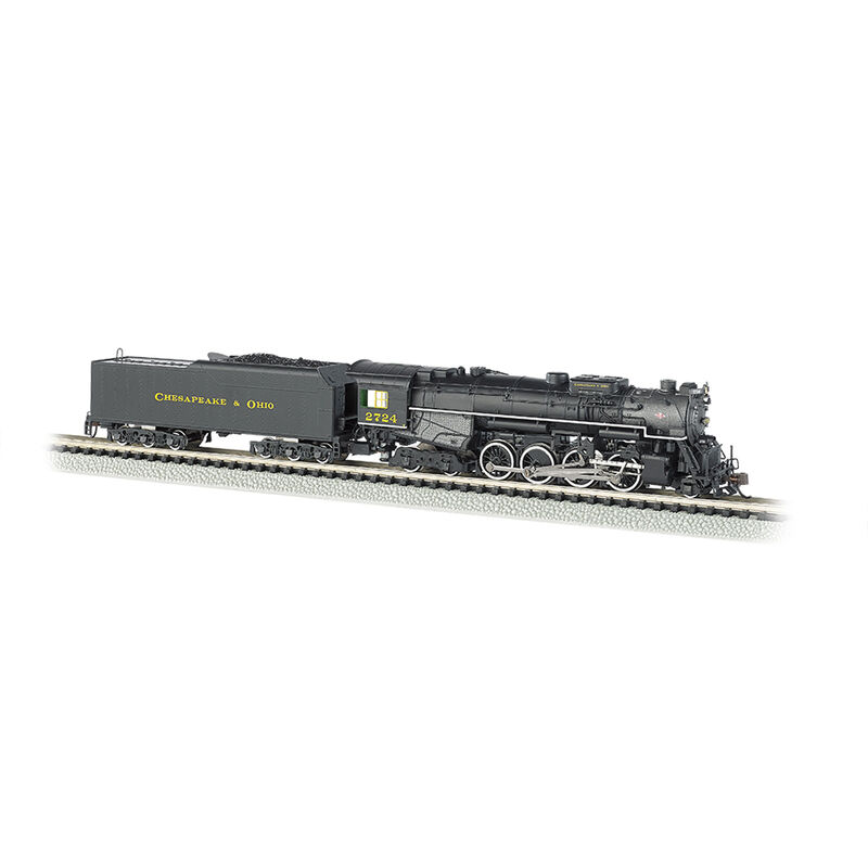N 2-8-4 w DCC & Sound Value C&O Kanawha #2724