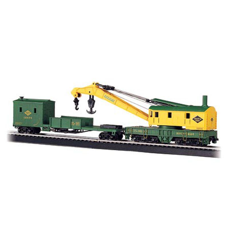 HO 250-Ton Steam Crane w/Boom Tender, RDG