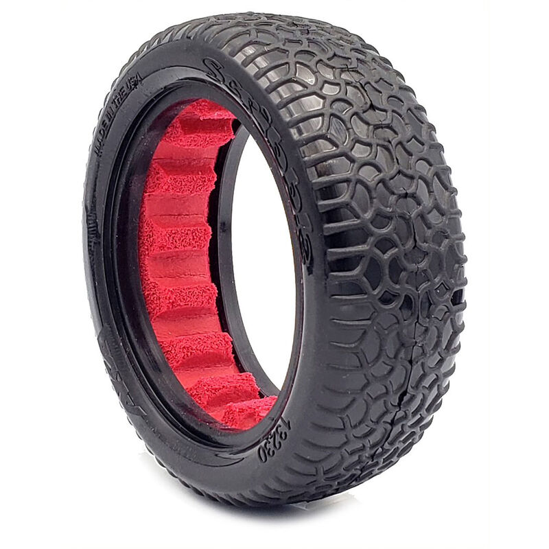 """Scribble 2.2"""" Clay Tires, 2WD Front with Red Insert (2): 1/10 Buggy"""