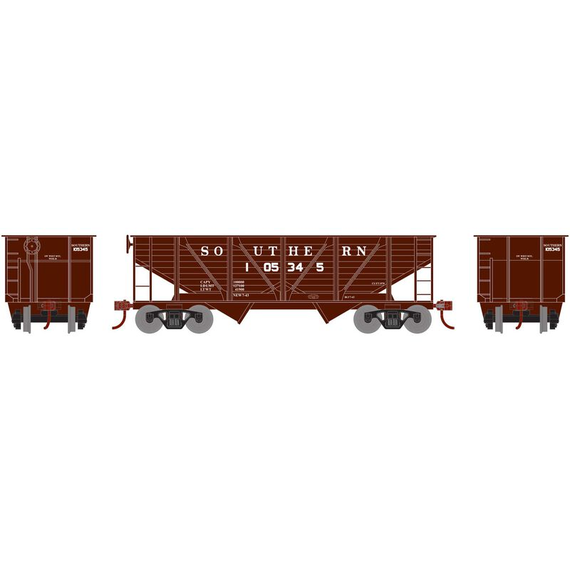 HO 34' 2-Bay Hopper with Coal Load SOU #105345