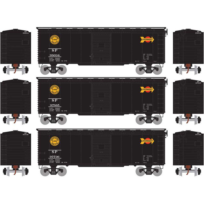 HO RTR 40' YSD Box SP, Black Overnight #1 (3)