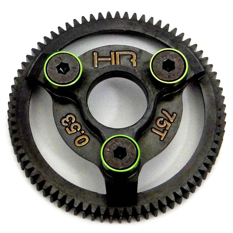 Traxxas Hardened Steel 48p Spur Gear 75t, Green