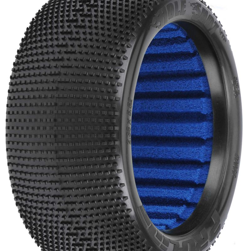 """Hole Shot VTR 4.0"""" S4 1/8 Truck Tires, F/R (2)"""
