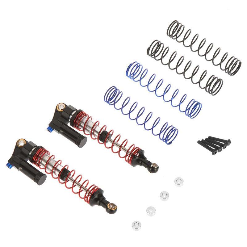 Piggyback Adjustable Rebound Shock 61-90mm, Black: SCX10