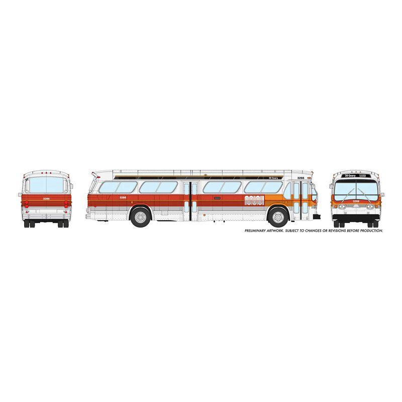 HO 1/87 New Look Bus Standard-SF MUNI Landor #3001