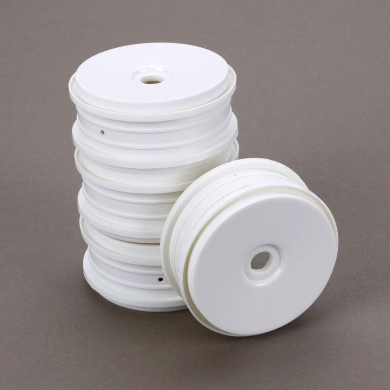 SpeedTreads Dish Wheels White (4): 1/8 Buggy