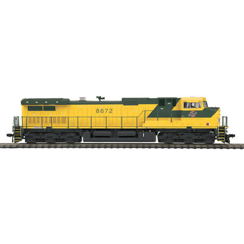 HO Dash-9 with NMRA, C&NW #8672