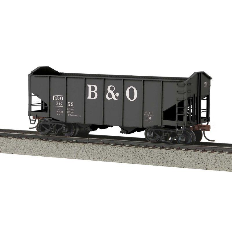 2-Bay Fish Belly Hopper Car Scale Wheels B&O #3669