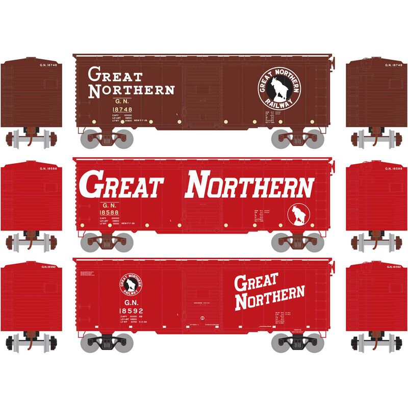HO RTR 40' Youngstown Door Box, GN Circus #1 (3)