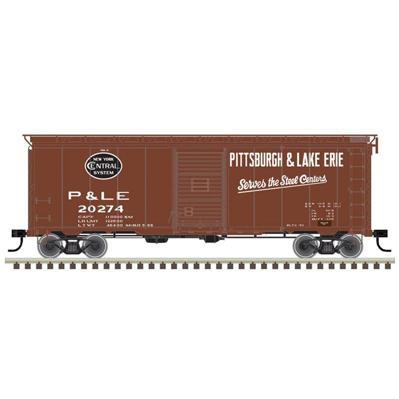 HO 40' Postwar Box P&LE #20444