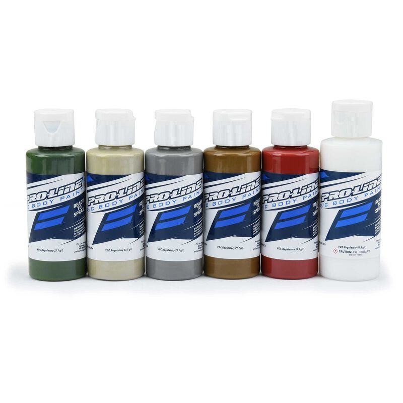 RC Body Paint, Military Set (6 Pack)