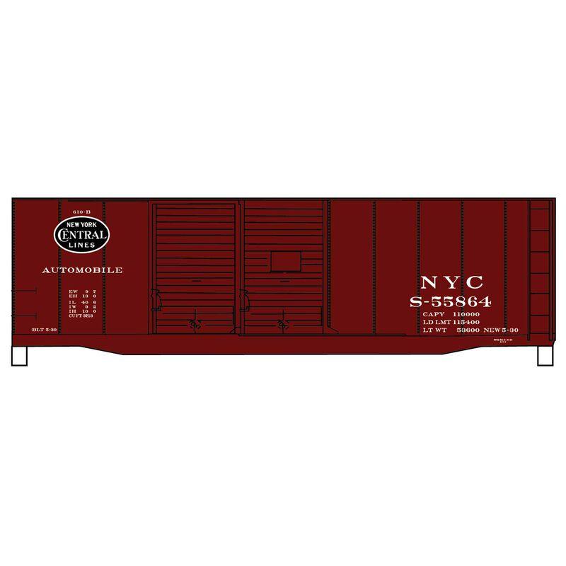 HO 40' Double Door Steel Boxcar NYC