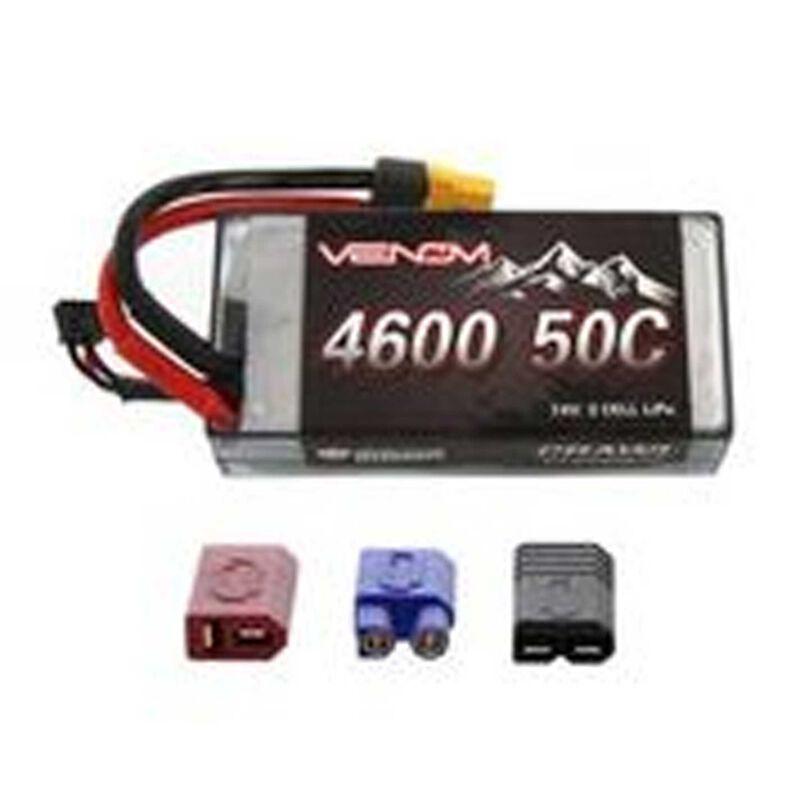7.4V 4600mAh 2S 50C Crawler LiPo Shorty Hardcase Battery: UNI 2.0 Plug