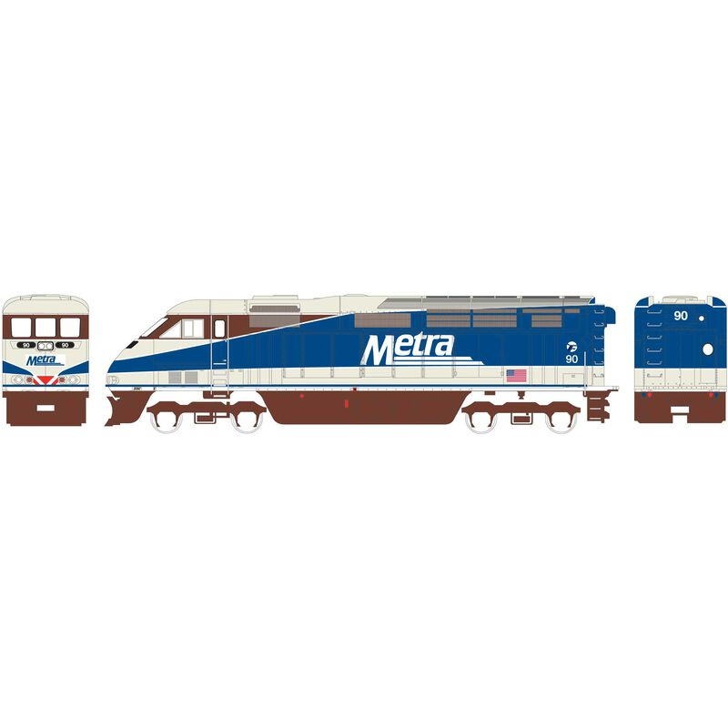 HO RTR F59PHI with DCC & Sound METX #90