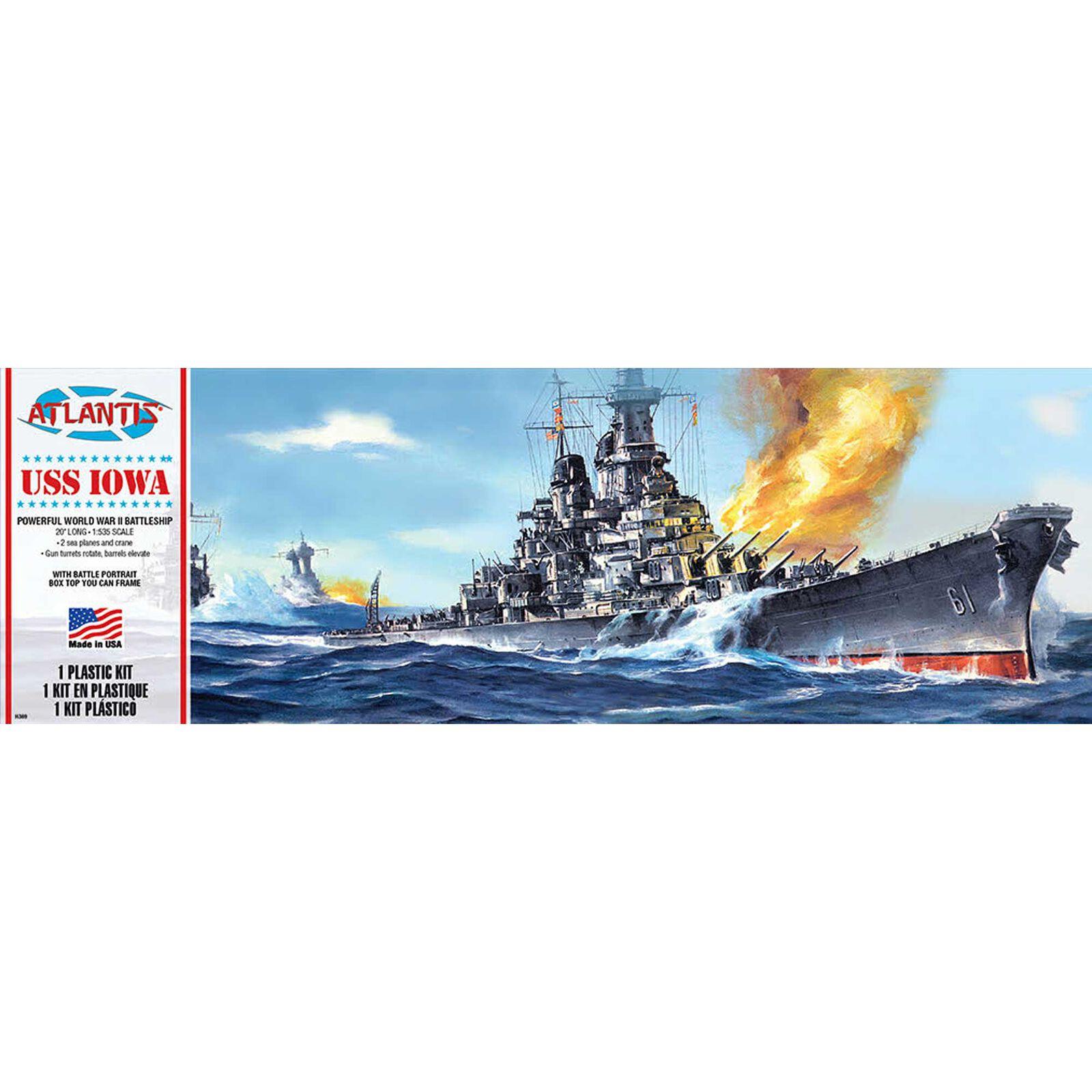 USS Iowa BB-61 Big Battleship 1/535 Plastic Model